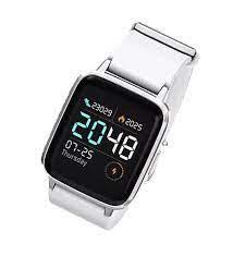 Xiaomi Haylou LS01 Nabız Ölçer Android IOS Smart Akıllı Saat- Beyaz Silikon