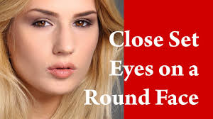 round shaped face makeup tutorial for close set eyes