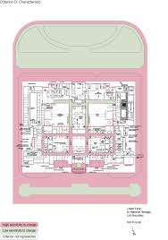 old parliament house lower floor plan showing the zones according to criterion d characteristic