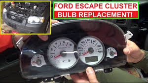 2003 Ford Ranger Instrument Cluster Light Bulbs How To Replace Instrument Cluster Light Bulb On Ford Escape And Mercury Mariner