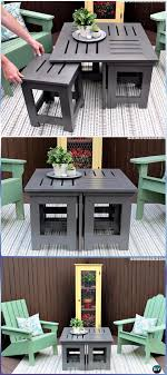 diy outdoor coffee table with side tables instructions diy outdoor table ideas projects