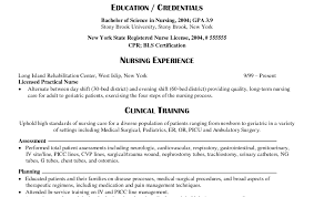 Resume For Nurses With Experience Resume Examples For Experienced