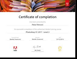 Certificate Of Completeion Adobe Certificates Of Completion For Students Internet I