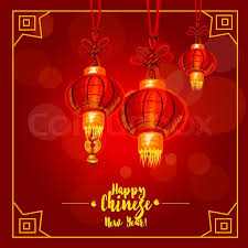 chinese new year and lantern festival poster red paper lantern hanging by chinese knotting cord with erfly knot and tassel
