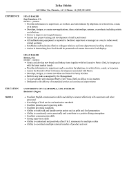 Baker Resume Head Baker Resume Samples Velvet Jobs 8