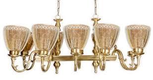 unique linear rectangular 10 light chandelier