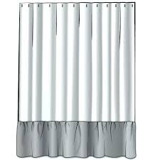 ticking shower curtain ticking stripe curtains french country brindle gray ticking stripe shower curtain with ruffle