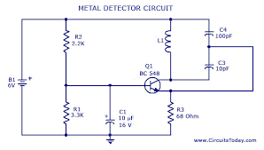 circuit diagram of metal detector project ireleast info metal detector circuit diagram and schematic wiring circuit