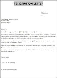 Resume Examples Templates: The Following Example Resignation Letter ...