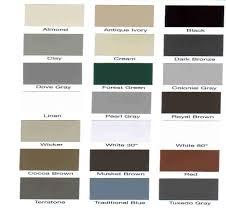 Ply Gem Gutter Color Chart Colorsample