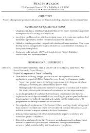 sample resume for project management focus on team leadership  sample resume for project management focus on team leadership analysis and customer care