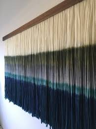 dip dyed wall hanging yarn tapestry