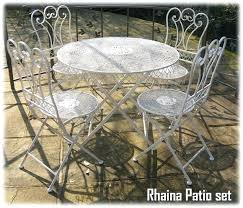 wrought iron patio furniture cushions. Shabby Chic Porch Furniture Patio Tea For 4 Wrought Iron Set Outdoor Cushions .