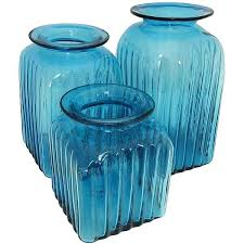 6 vintage princess house heritage crystal glass canister set w lids colored canisters with