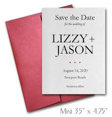 Red Save The Date Cards Simplicity Mini Save The Date Cards Wedding Red Envelopes