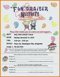 School Fundraiser Flyer Templates Ideas Coral Red Burger Bowling