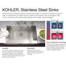 Kohler K 3355 Na Undertone Stainless Steel Kitchen Sinks Sinks