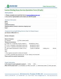 Manual Patch Clamp Testing Service Quotation Form