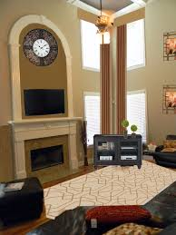 Massive TwoStory Fireplace W Carved Corinthian Columns From Two Story Fireplace