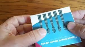 <b>Mini Replaceable Brush Head</b> 5pcs - BLACK - YouTube