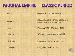 Mughal Empire Timeline Chart Ppt On Mughal Empire
