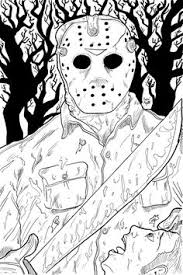 Crafty Inspiration Horror Coloring Pages Printable 94 Best Page