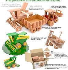 super reallywood combine wood toy plan set