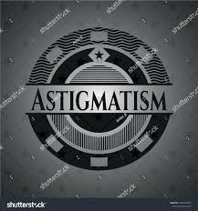 Astig Logo Design Astigmatism Black Emblem Vector Illustration Detailed Stock