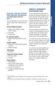 2012 Toyota Prius Warranty and Maintenance information