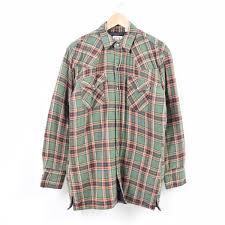 Ely Cattleman Quilting Liner Western Flannel Shirt Men M Wap4808