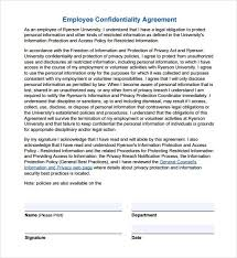 Nda Template Free Download Employee Confidentiality Agreement Non Disclosure Agreement