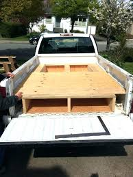 diy truck storage truck bed drawers how to install a sliding truck bed drawer system projects