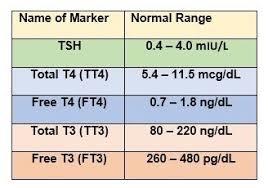 Thyroid Chart Optimal Thyroid Level Chart Bedowntowndaytona Com