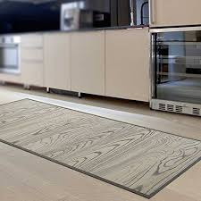 casa pura bamboo floor mat dark brown non slip hypoallergenic natural