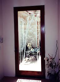 sans soucie front doors with glass etching asian bamboo