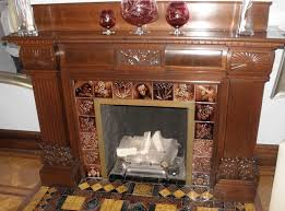 antique fireplace tile. the living room fireplace in reynolds mansion b\u0026b. there are a variety of tile series here: \ antique h