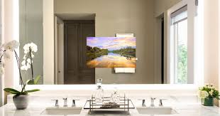 tv in bathroom. bright-bathroom-tv-lighted-mirror.jpg tv in bathroom