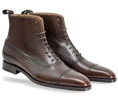 stylish balm boots in dark brown boxcalf 1 original