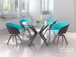 teal dining chairs awesome zuo modern cell dining table dark walnut disc modern