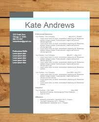 Resume Templates Modern Impressive Resume Template Instant Word Document Download Modern Design Blue