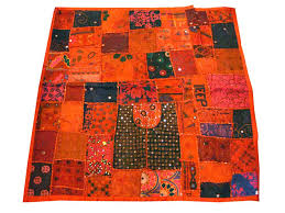 indian wall hangings whole tapestry handmade orange sequins patchwork hanging