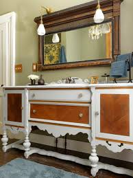 Repurpose A Dresser Into A Bathroom Vanity Howtos DIY - Bathroom vanity remodel
