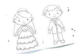 Printable Wedding Coloring Pages Kids Pictures Free Kitchen