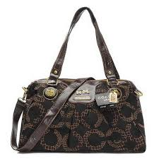 Latest Coach Fashion Madison Logo Medium Coffee Satchels Eio Sale zeQht