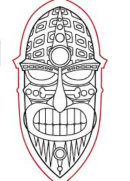 Small Picture Tiki Mask Template Free Download Clip Art Free Clip Art on