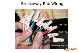 trailer wiring diagram brake away wiring diagram breakaway kit installation for single and dual brake axle trailers