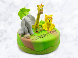 Custom Animal Harvest Cake