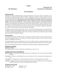 introduction to philosophy syllabus
