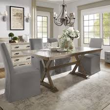 tile top dining table. Pennington Grey Wood Rectangular Tile Top Trestle Dining Table By INSPIRE Q Artisan - Free Shipping Today Overstock 25288618 C