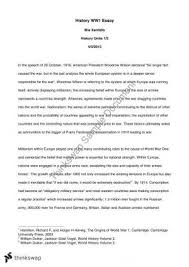history th century essay wars be started by a single causes of world war 1 essay